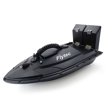 Flytec HQ2011- 5 Fishing Tool Smart RC Bait Boat Toy With Two Independent Bait Rooms Motor Cover Strong Blue Night Light Design