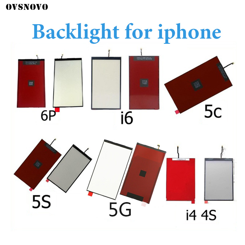 LCD Display Backlight Panel For IPhone 4 4s 5 5s 5c SE 6 6s 6p 7 8 8plus Lcd Screen Back Light Film Cell Phone Replacement Parts