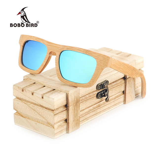 592d7e28dda BOBO BIRD Polarized Wooden Sunglasses Women Vintage Natural Bamboo Sun  Glasses Men Eyewear with Wood Box Oculos C-BG002