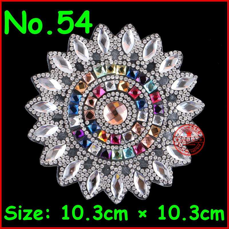 1 pc Flower Patches Hot fix Rhinestone Iron on Motif Crystal Patch Applique  For Children Women 0bdd2304dc65