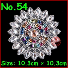 3 pcs/Lot Shiny Sun Flower hot fix rhinestone, heat transfer design iron on motifs,rhinestone applique for garment Accessories