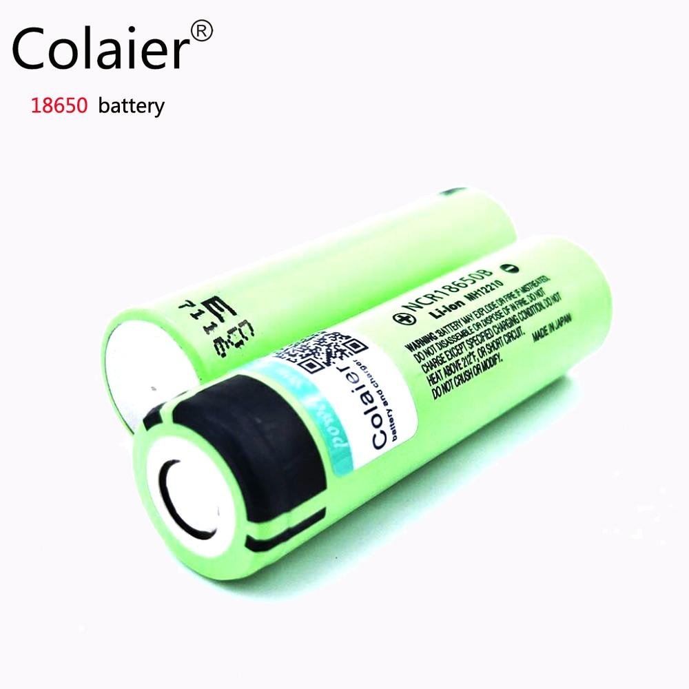 Galleria fotografica 2017 1 pcs/lot New Original Colaier Li-lon Pour <font><b>panasonic</b></font> 18650 3400 mah Rechargeable NCR18650B 3.7 V batterie