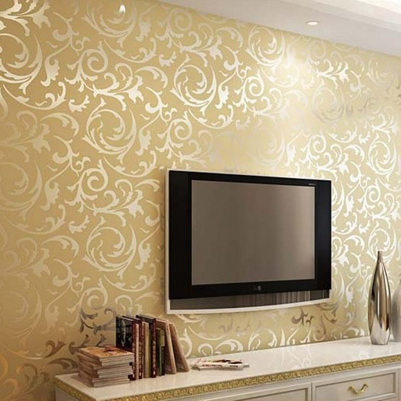 Painting Supplies & Wall Treatments Trustful Colomac 3d Non-woven Continental Damascus Wallpaper Roll Living Room Tv Sofa Background Ktv Thick Pvc Decor Pattern Wall Paper Invigorating Blood Circulation And Stopping Pains