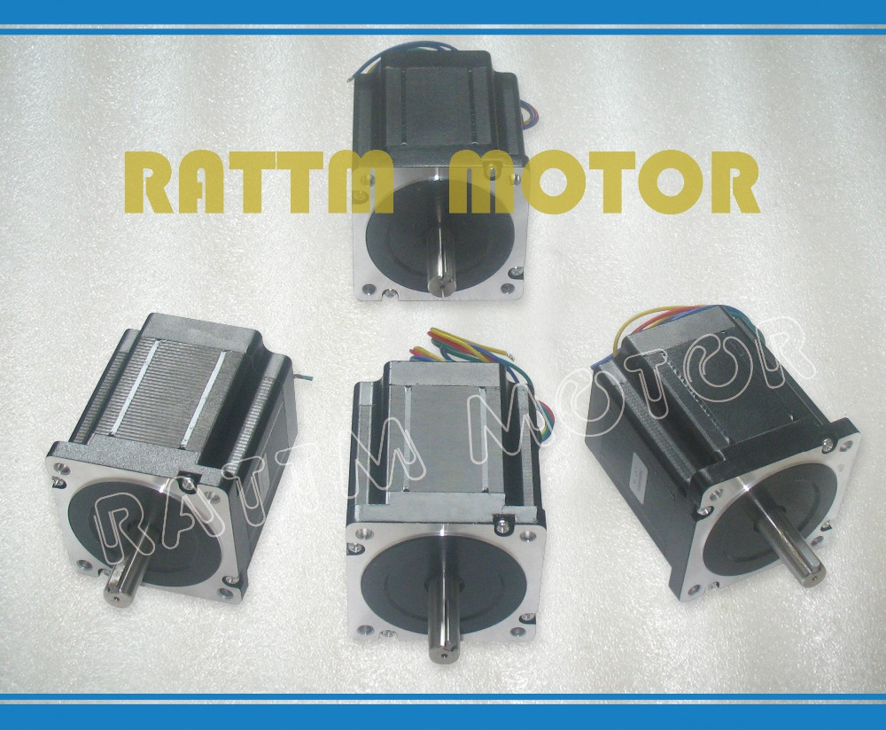 4PCS NEMA34 878 Oz-in CNC stepper motor stepping motor/4.0A цена