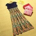Новые Женщины Длинные Платья для Беременных Грудное Вскармливание женская Одежда для Беременных Моды Дома Престарелых Одежды Мать L841