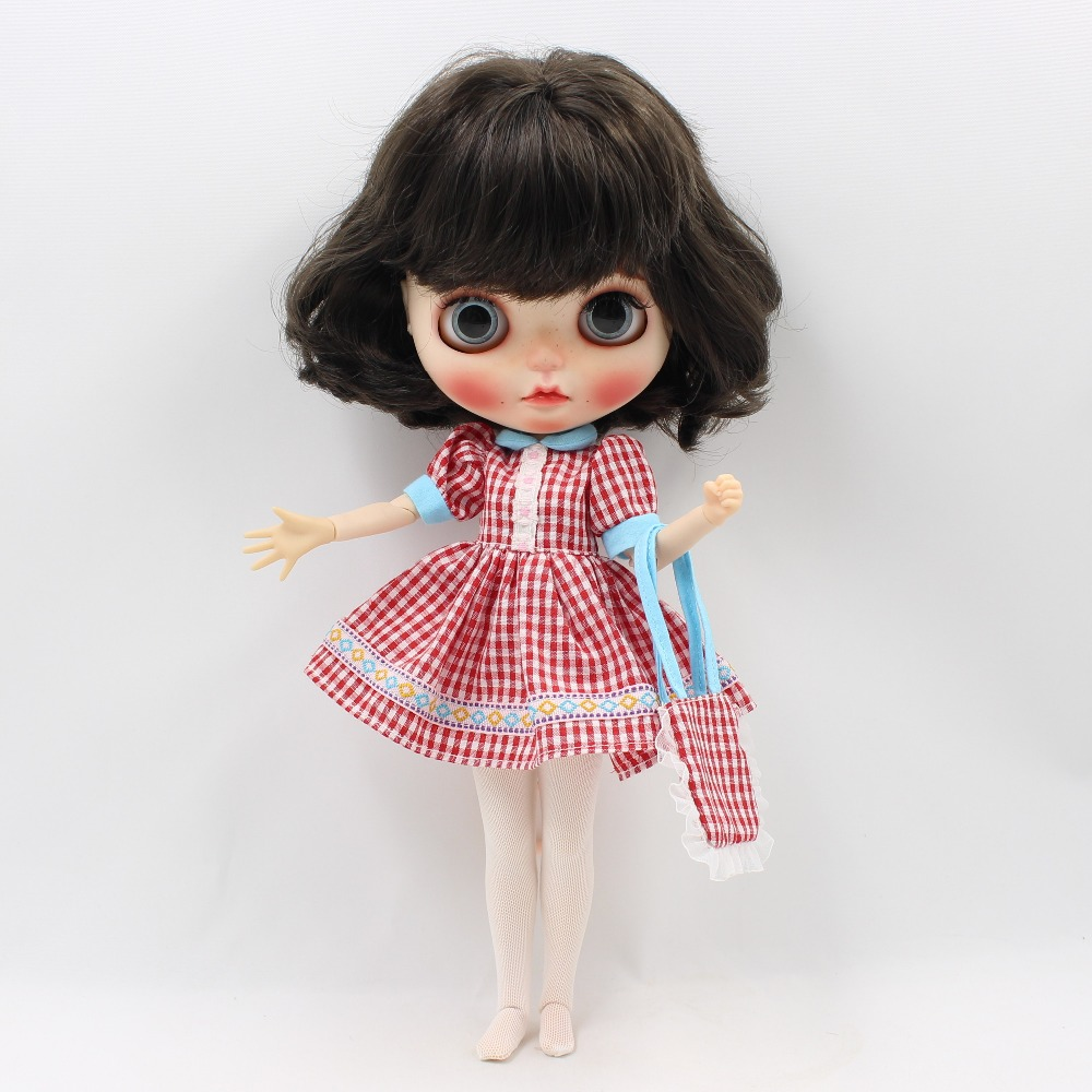 Neo Blythe Doll Pink Dress With Stocking & Bag 1