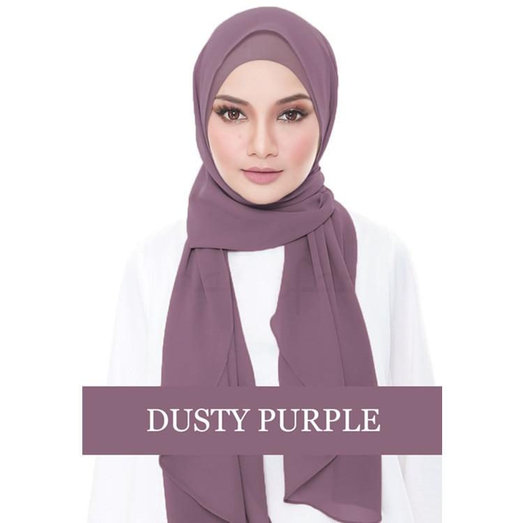 2019 Muslim Hijab Bonnet Chiffon Abaya Jilbab Caps Headscarf Femme Turban Muslim Long Scarf Voile Islamique Turban Eid Gift(China)