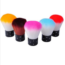 New Colorful Nail tools Brush For Acrylic & UV Gel Nail Art Dust Cleaner 02SQ