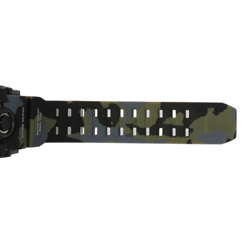 SMAEL Brand Sport LED Watches Fashion Male Clock Kaki Color 1545B 5Bars Swimming Camouflage Military Dual Digital Sports Watches