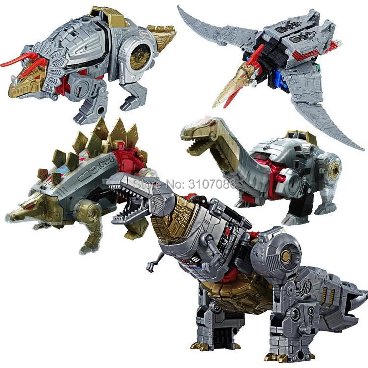 Image 2 - G1 BPF Transformation Dinoking Volcanicus Grimlock Slag Sludge Snarl Swoop slash Dinobots 5IN1 Action Figure Robot Toys-in Action & Toy Figures from Toys & Hobbies