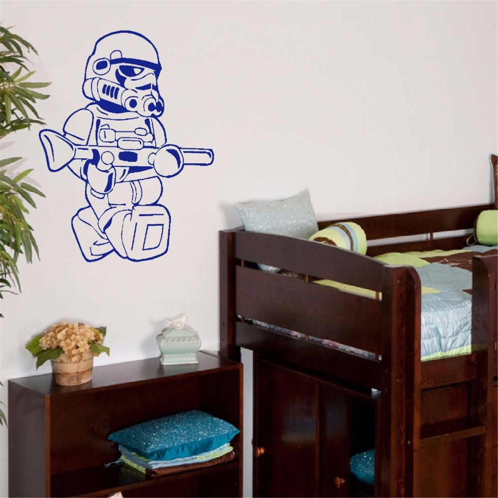 Large star wars lego men storm trooper for children kids - Mens bedroom wall art ...