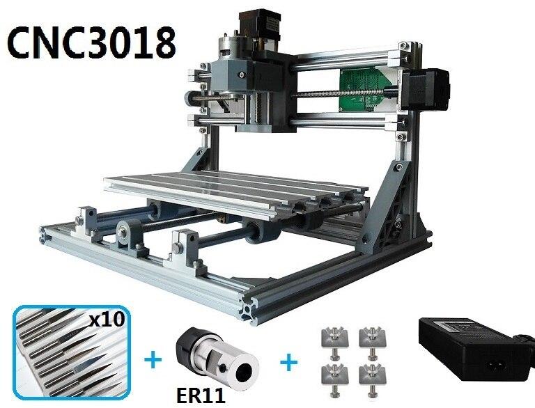 CNC3018 withER11, bricolage mini cnc machine de gravure, gravure laser, Carte PVC Fraiseuse bois routeur, cnc 3018
