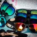 Mejores Ventas de gafas de Sol Polarizadas de Los Hombres de Los Hombres de Conducción Espejos Recubrimiento Marco Negro Gafas Masculinas Gafas de Sol