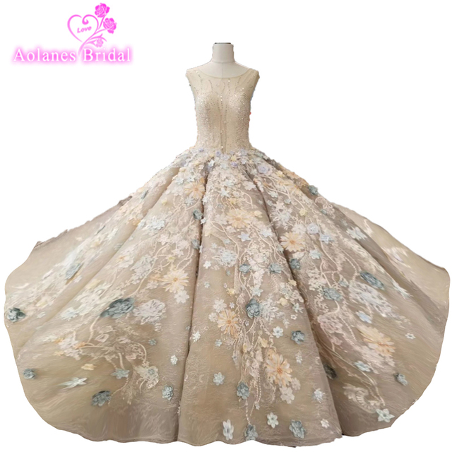 Cap Sleeves Wedding Dress Appliques Champagne Lace Colors Latest ...