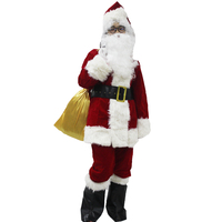 9 in 1 Adult Santa Claus Costume Christmas Costume Funny Dress Cosplay Xmas Suit For Men And Women