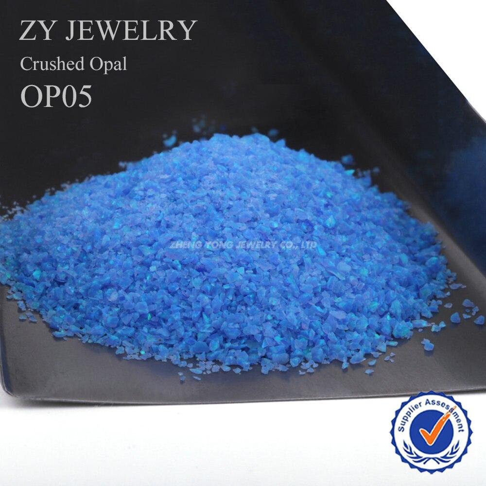 Takı ve Aksesuarları'ten Boncuklar'de (50 gram/grup) Toptan/OP05 Sentetik opal için ezilmiş tırnak için opal güç'da  Grup 1