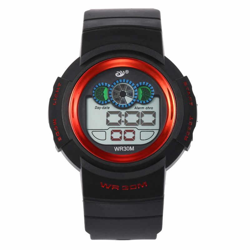 Фото Multi Функция 30 м Водонепроницаемый часы цифровой двойного действия женские с