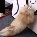 Office Real Raccoon Fur Fox Tail Bag Chains Retro Warm Casual Bag Hanging Tag Charming Pendant Accessory Fur Keychain