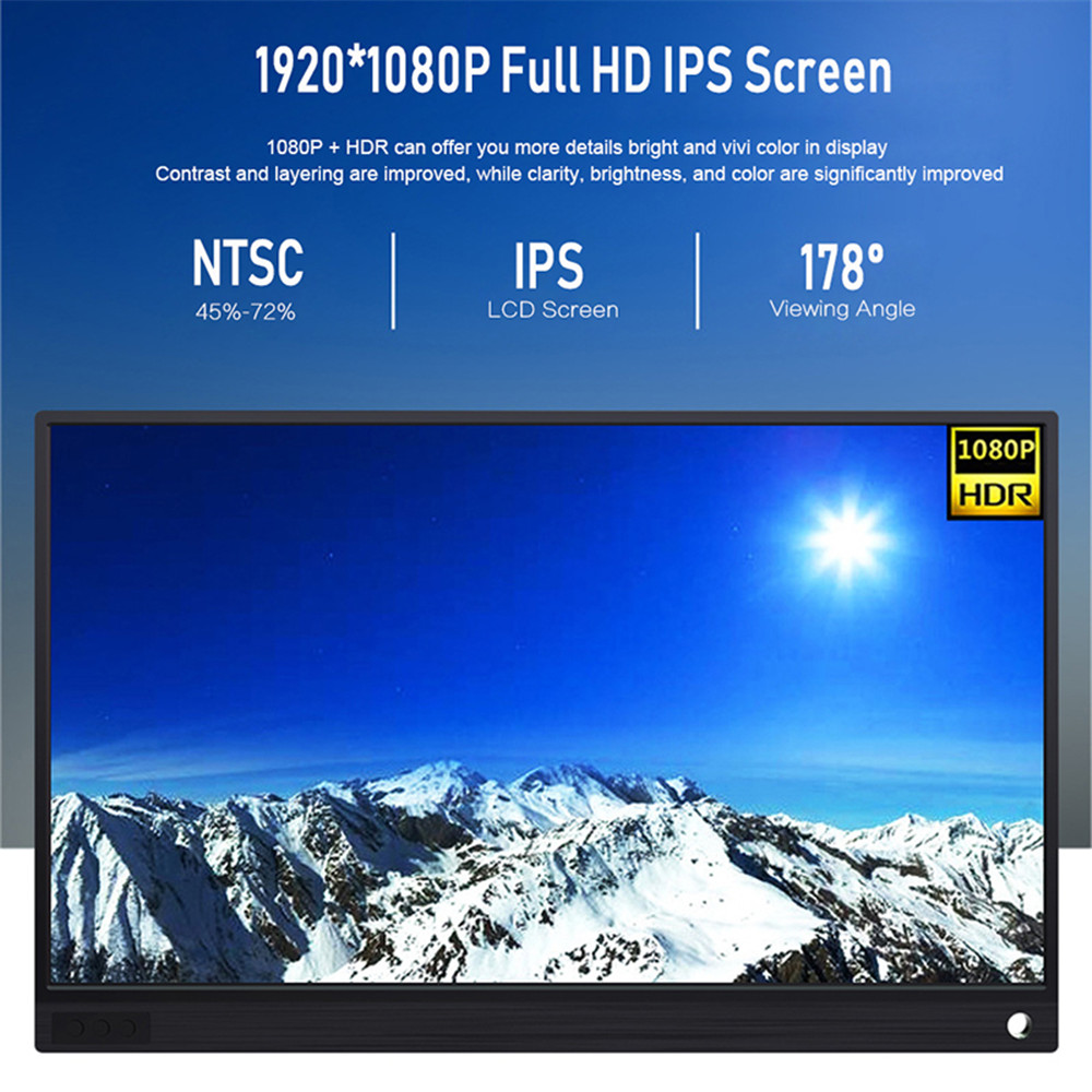 Image 3 - Touch Screen Monitor with Battery 15.6 inch HDMI Monitor 4K 1080P HDMI for laptop Samsung DEX phone XBOX Switch PS4-in LCD Monitors from Computer & Office