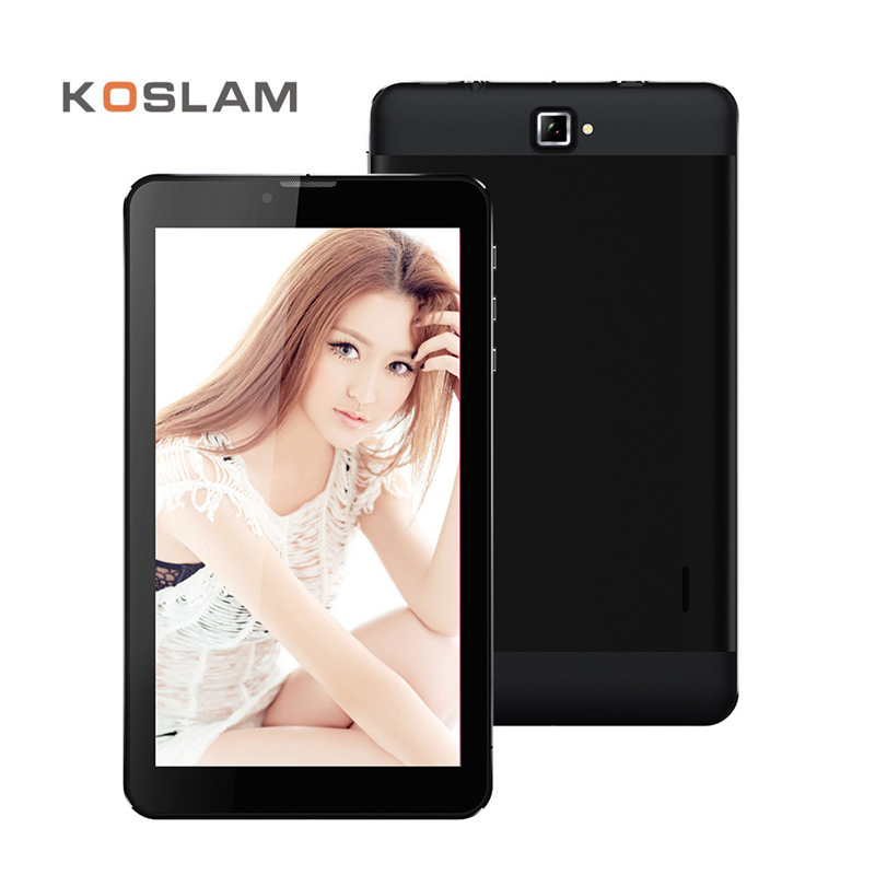 KOSLAM New 7 Inch 3G Phone Call Android Tablet PC Tab Pad IPS 1280×800 Quad Core 1GB RAM 8GB ROM Dual SIM Card 7″ Mobile Phablet