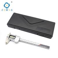 Aço Inoxidável Ferramenta de Medição De alta Precisão 0 150mm IP54 IP67 instrumento de medição Paquímetro Digital Vernier Compassos|Pinças| |  -