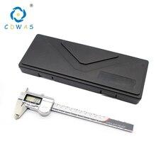 Высокоточный измерительный инструмент Нержавеющаясталь цифровой штангенциркуль 0-150 мм IP54 IP67 измерительный штангенциркуль с нониусом