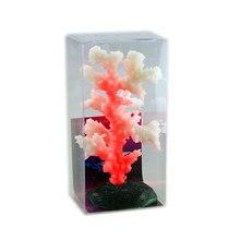 Luminous Sea Anemone Aquarium Artificial Fake Silicone Coral Plant Fish Tank Aquarium Accessories Landscape Decoration