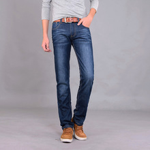 2017 Men Jeans New winter male Brand jeans Fashion Slim warm denim trousers thickening Business casual jeans men 38 T9521