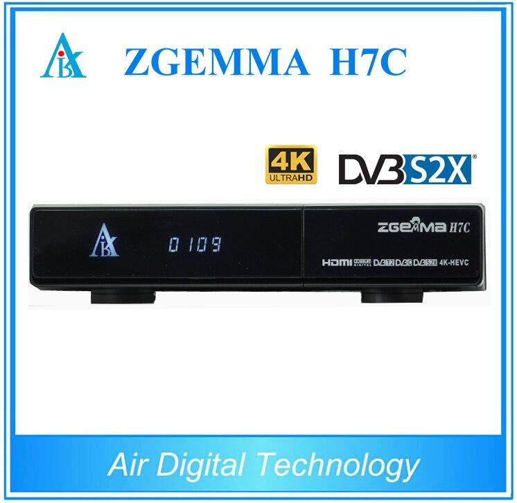 2 шт./лот 4 К Ultra HD zgemma H7C приемник для кабельного ТВ комбо DVB S2X + 2 * DVB T2/C 4 К спутниковый ресивер Linux Enigma2