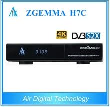 2pcs/lot 4K Ultra HD Zgemma H7C cable tv receiver combo DVB-S2X+2*DVB-T2/C 4k satellite receiver Linux Enigma2