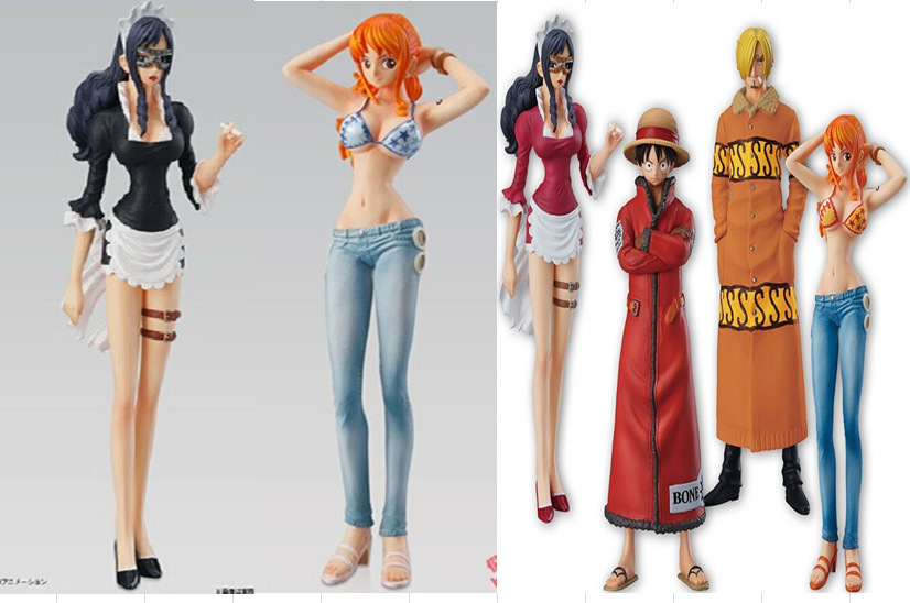 (6 pieces/lot) ONE PIECE Luffy Figma Japanese Anime Cartoon Comic 15th Anniversary Model POP Puppets Action & Toy Figures GH359
