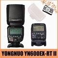 Yongnuo yn600ex-rt ii disparador de flash inalámbrico speedlite con óptica maestro y ttl hss para canon para canon 600ex-rt