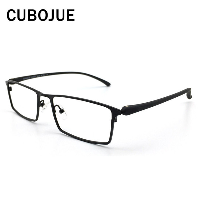 e8969f856f8 Cubojue (145mm) Titanium Eye Glasses Frame Men Oversized eyeglasses  Prescription Spectacles man brand Man