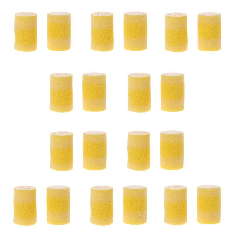 10 paires de bouchons doreille en forme de cylindre souple en PVC10 paires de bouchons doreille en forme de cylindre souple en PVC