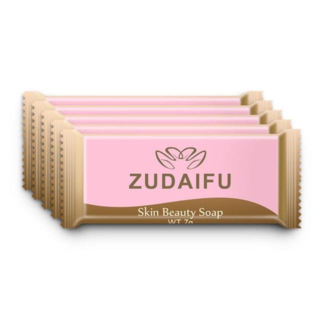 5pcs Zudaifu Sulfur Soap Trial Pack Skin Antibacterial Treatment Acne Psoriasis Seborrhea Eczema Anti Fungus Bath Beauty Soap 1