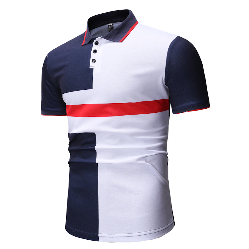 2019 Brand Casual   Polo   Shirt Men Flame Printing Cotton   Polo   Homme Turn Down Collar Man Slim Fit Summer   Polos   Shirts M-3XL