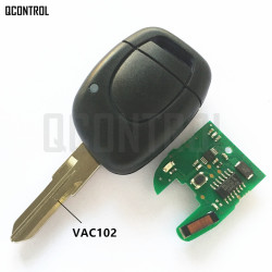 QCONTROL Car Remote Key Suit for Renault Master Clio Twingo Kangoo PCF7946 Chip 433MHZ