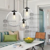 New modern lampada da soffitto pendente luce palla di vetro sfera di Cristallo del pendente yc GY324