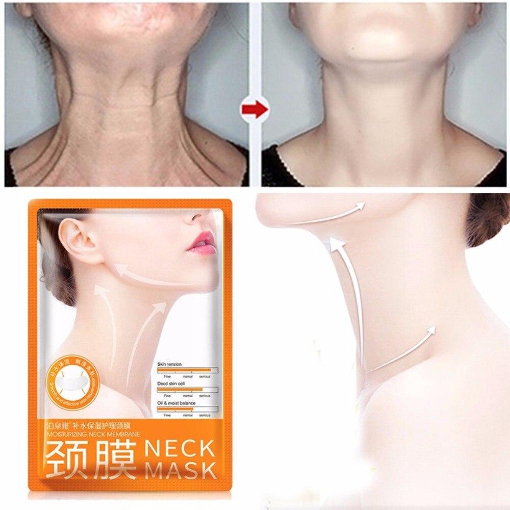 Dropshipping Anti Aging Neck Mask Skin Care Anti Wrinkle Whitening Moisturizing Nourishing Firming Neck Care Mask TSLM2