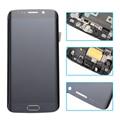 Белый синий золото ЖК-Дисплей С Сенсорным Экраном Дигитайзер полный Ассамблея с заменой рамы части Для Samsung Galaxy S6 Edge G925F