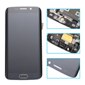 white blue gold LCD Display Touch Screen Digitizer full Assembly with frame replacement parts For Samsung Galaxy S6 Edge G925F