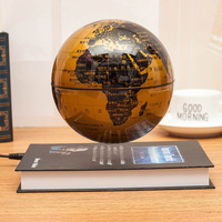 Large 8 Inch 6 Inch Magnetic Levitation Globe Light Rotation UFO Desk Ornaments High Grade Birthday