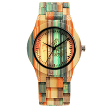 Sports CYRANA wooden woode madera mujer women luxery bobo bomboo colorful green band oem reloj relojes watch quartz watch недорого