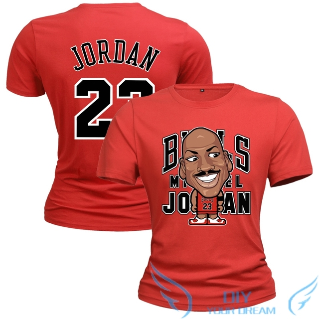 59b4a41da54 2019 Men the Michael Jordan cartoon version T shirt funny Cotton Short  Sleeve Men's cool Printed T-shirt Male