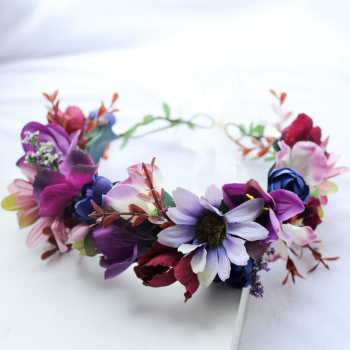 Women Flower Crown Wreath Flower Headband Girls Hair Accessories Bride Headdress 1