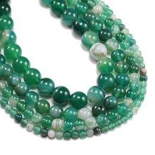 9a5e6f147cdb 1 strand lot 4 6 8 10 12mm venta al por mayor cuentas de piedra Natural  raya verde ágatas cuentas de ónix para la fabricación de.