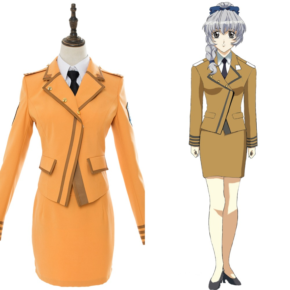 The Cheapest Price Anime Full Metal Panic Anime Costumes Invisible Victory Kaname Chidori School Uniform Dress Cosplay Costume Halloween Carnival Cosplay Costume