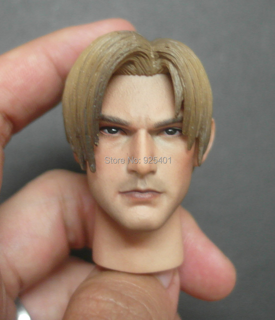 59870e4d460 Custom 1 6 Scale Leon S. Kennedy Head Sculpt For Hot Toys Resident Evil  Biohazard RPD Body Headplay Free Shipping
