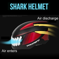 PROMEND Shark Bicycle Cycling Helmet EPS PC Ultralight Integrally Bike Mountain Road Ventilated And Breathable 3colors