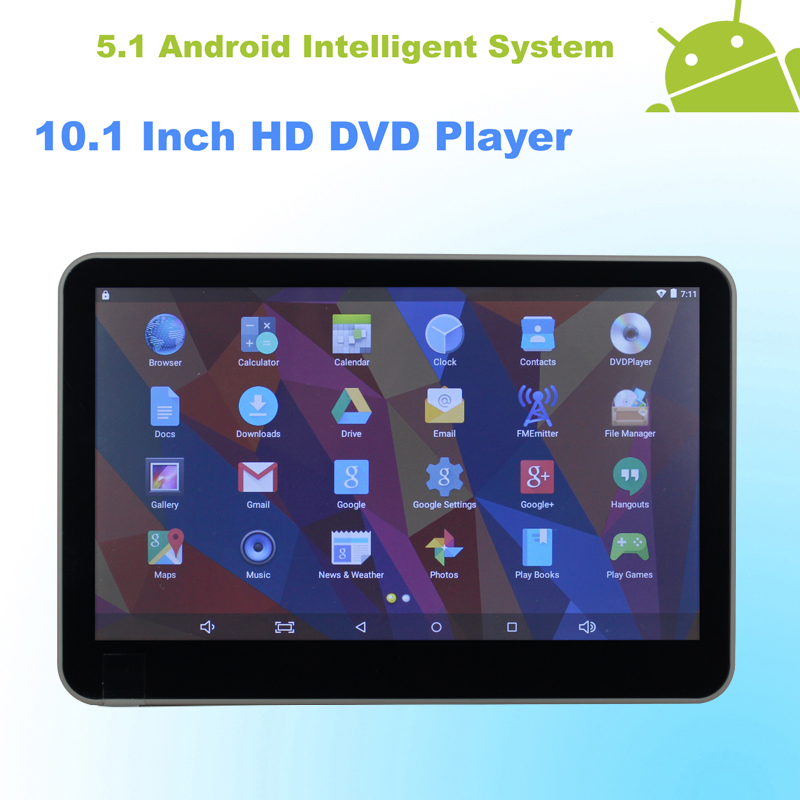 font b Android b font 5 1 Headrest 10 1 Inch Monitor HD Car DVD